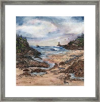 Peaceful Ocean Framed Print