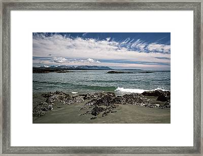 Peaceful Pacific Beach Framed Print