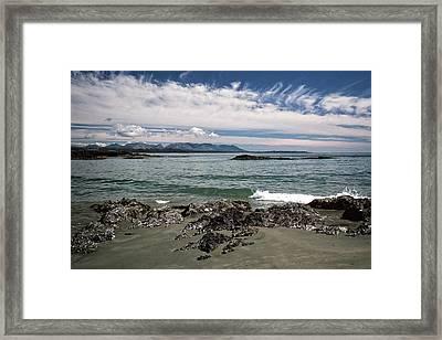 Framed Print featuring the photograph Peaceful Pacific Beach by Richard Farrington