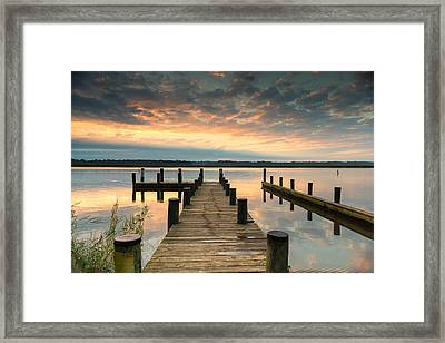 Framed Print featuring the photograph Peaceful Patuxent by Cindy Lark Hartman