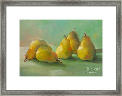 Peaceful Pears Framed Print by Michelle Abrams