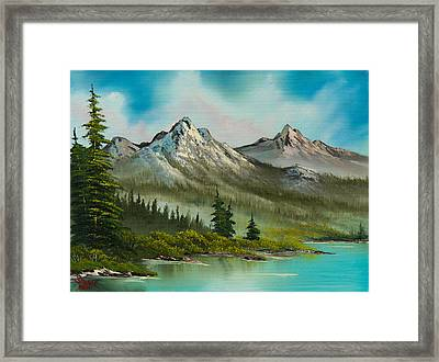 Peaceful Pines Framed Print by C Steele