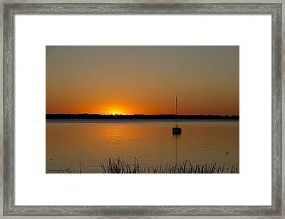 Peaceful Place Framed Print by Kathy Ponce