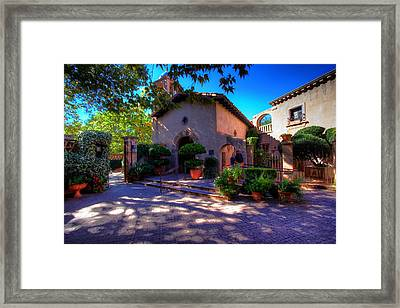 Framed Print featuring the photograph Peaceful Plaza by Dave Files