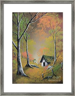 Peaceful Practice Framed Print