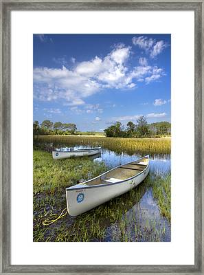 Peaceful Prairie Framed Print by Debra and Dave Vanderlaan