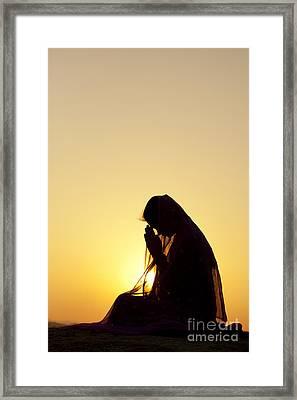 Peaceful Prayer Framed Print by Tim Gainey