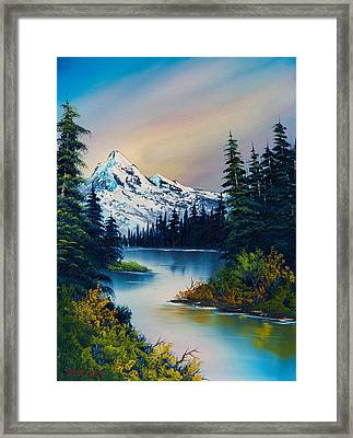 Tranquil Reflections Framed Print by C Steele