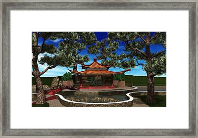 Peaceful Retreat Framed Print by Louis Ferreira