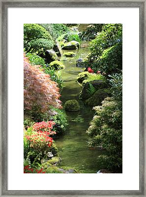 Peaceful River Framed Print by Carrie Warlaumont