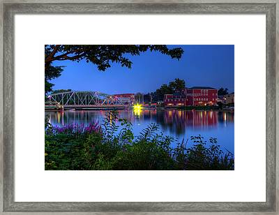 Framed Print featuring the photograph Peaceful River by Dave Files