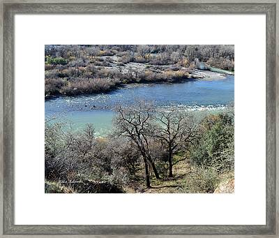 Peaceful River Framed Print by Lula Adams