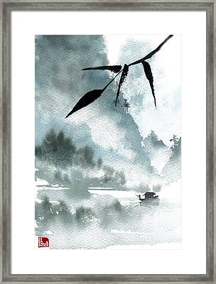 Peaceful River Framed Print by Sean Seal
