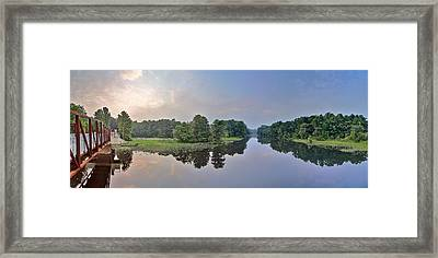 Peaceful River  Framed Print by Wioletta Pietrzak