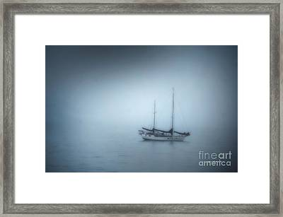 Peaceful Sailboat On A Foggy Morning From The Book My Ocean Framed Print