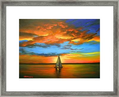 Peaceful Sailing Framed Print