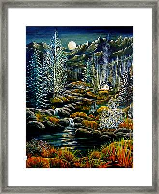 Peaceful Seclusion Framed Print by Diana Dearen