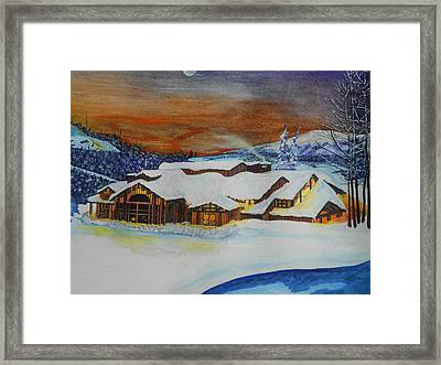 Peaceful Silence Framed Print by Willie McNeal