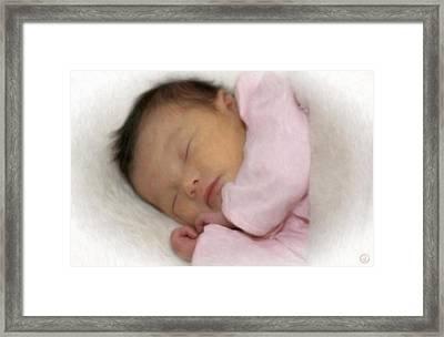 Peaceful Sleep Framed Print by Gun Legler