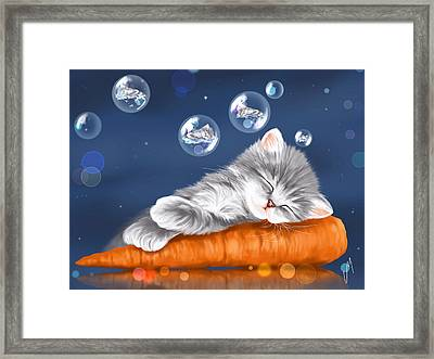 Peaceful Sleep Framed Print by Veronica Minozzi