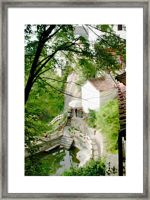 Peaceful Spot In China Framed Print