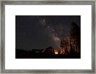 Peaceful Starry Night Framed Print