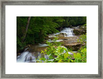 Framed Print featuring the photograph Peaceful Stockbridge Falls  by Dave Files