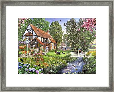 Peaceful Sunday English Version Framed Print