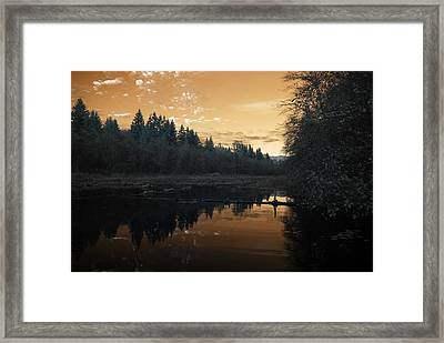 Framed Print featuring the photograph Peaceful Sunset by Rebecca Parker