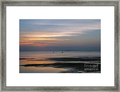 Peaceful Sunset Framed Print by Tammy Smith