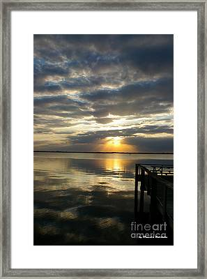 Framed Print featuring the photograph Peaceful Sunset by Tannis  Baldwin