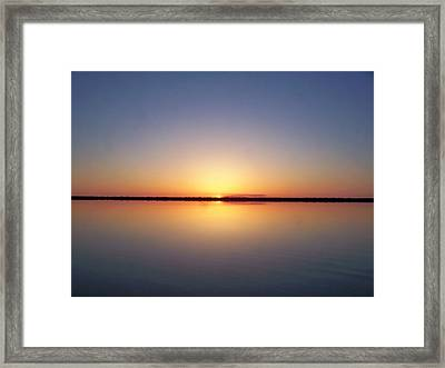 Peaceful Sunset Framed Print