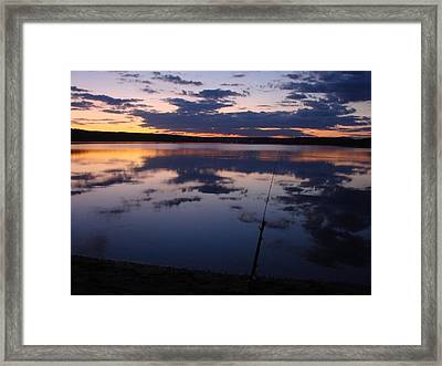 Peaceful Timing Framed Print by Kristina Mitchell