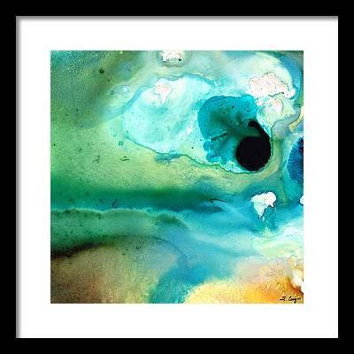 Green Contemporary Framed Prints