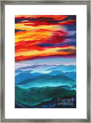 Peaceful Valley's Framed Print by Anderson R Moore