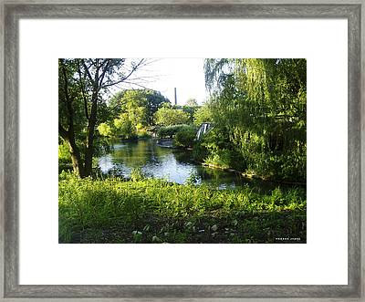 Peaceful Waters Framed Print by Verana Stark