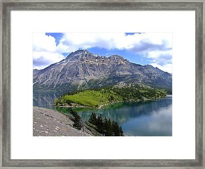 Peaceful Waterton Framed Print