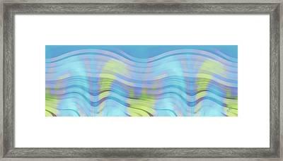 Peaceful Waves Framed Print by Ben and Raisa Gertsberg