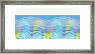 Peaceful Waves Framed Print