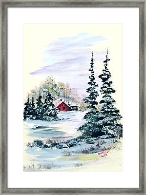 Peaceful Winter Framed Print