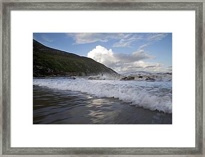 Peaceful Wishes Keem Beach Ireland Framed Print