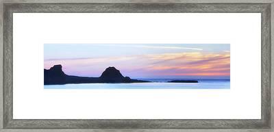 Peacefull Hues Framed Print by Mark Kiver