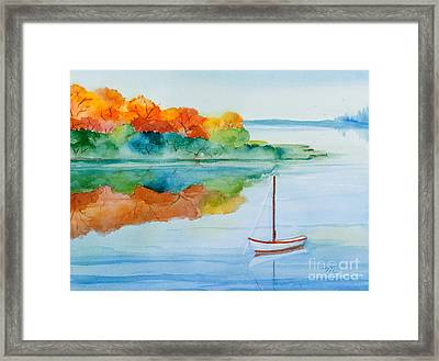 Peacefully Waiting Watercolor Framed Print by Michelle Wiarda