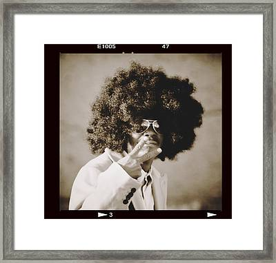 Framed Print featuring the photograph Peaceman by Alice Gipson