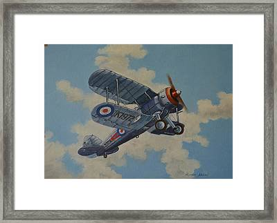 Framed Print featuring the painting Peacetime Gladiator by Murray McLeod
