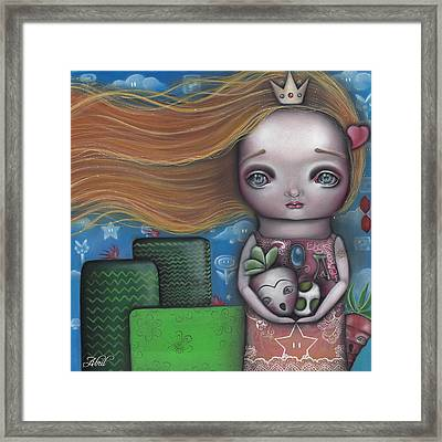 Peach Framed Print by  Abril Andrade Griffith