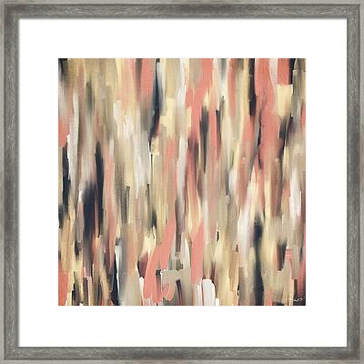 Peach And Blue Framed Print by Lourry Legarde
