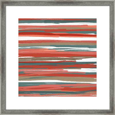 Peach And Neutrals Framed Print by Lourry Legarde