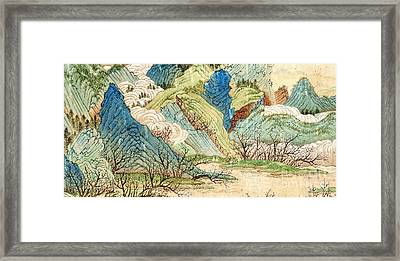 Peach Blossom Spring 1 Framed Print by Pg Reproductions