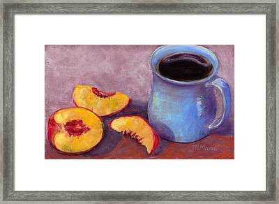 Peach Break Framed Print by Julie Maas